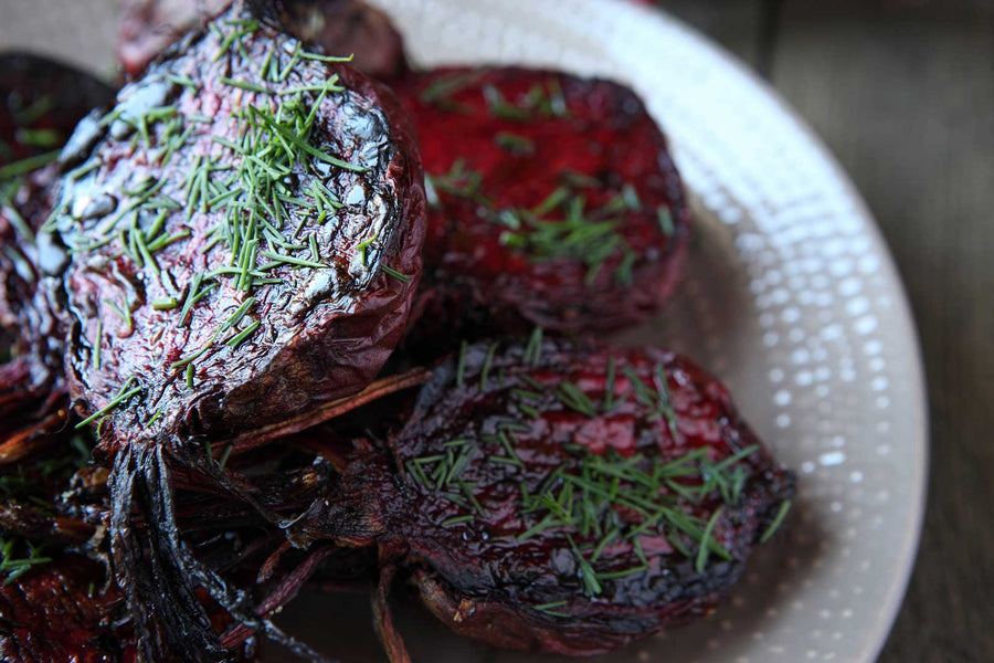 Chocolate Aged Balsamic Roasted Beets