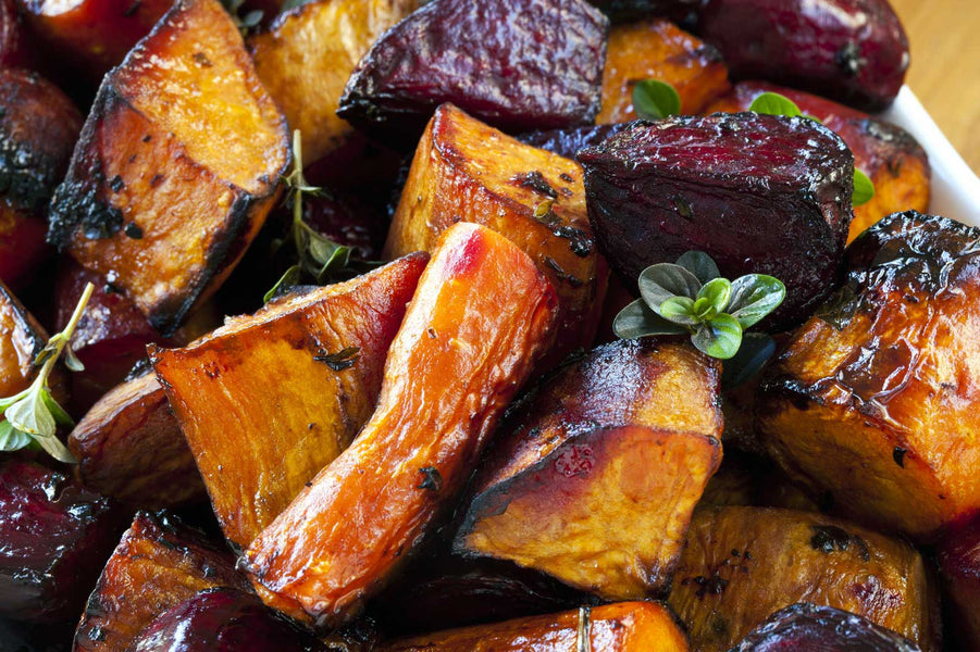 Roasted Root Vegetables with Rosemary Infused Olive Oil