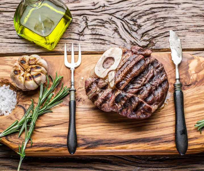 Steaks with Rosemary, Garlic & Olive Oil