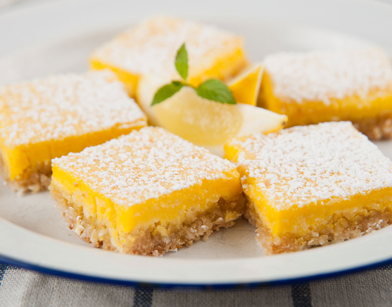 Meyer Lemon Bars with LUV Flavors Extra-Virgin Meyer Lemon Infused Olive Oil
