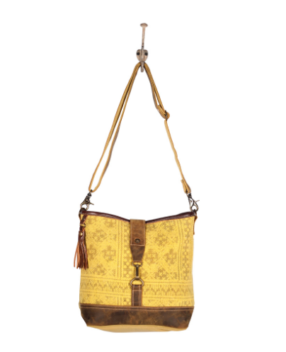 Mustard Aztec Shoulder Bag