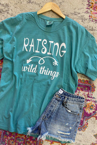Raising Wild Things Comfort Colors Tee