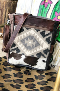 Trailblazer Aztec + Cowhide Shoulder Bag