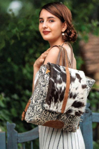 Oriental Cowhide Backpack