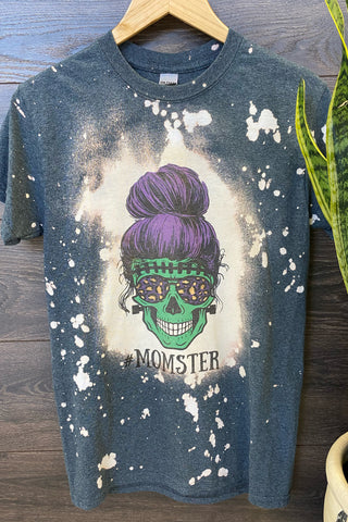 #MOMSTER Messy Bun Skeleton Tee