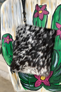 Black Cowhide Crossbody