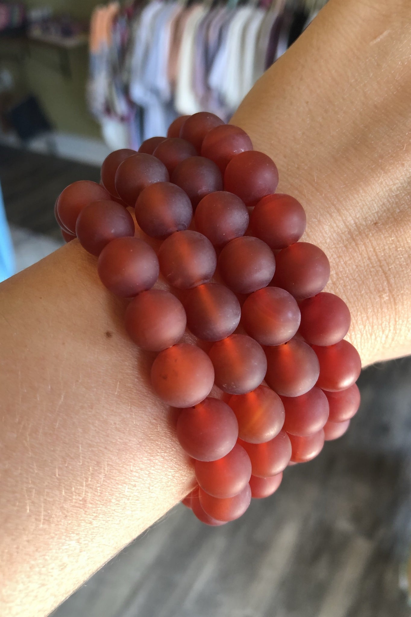 Marbled Stack Bracelet - Red