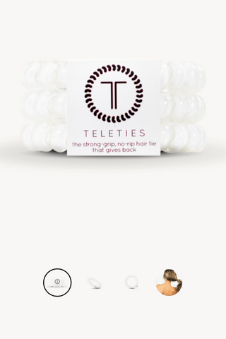 Large Teleties - Coconut White