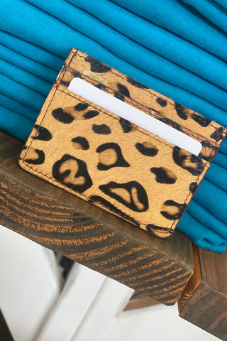 The Jane Leopard Acid Card Holder