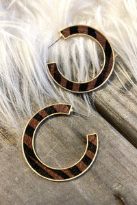 Gold Tiger Hoops
