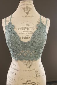 The Emma Lace Bralette - Teal