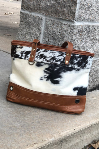 Cowhide & Leather Bag