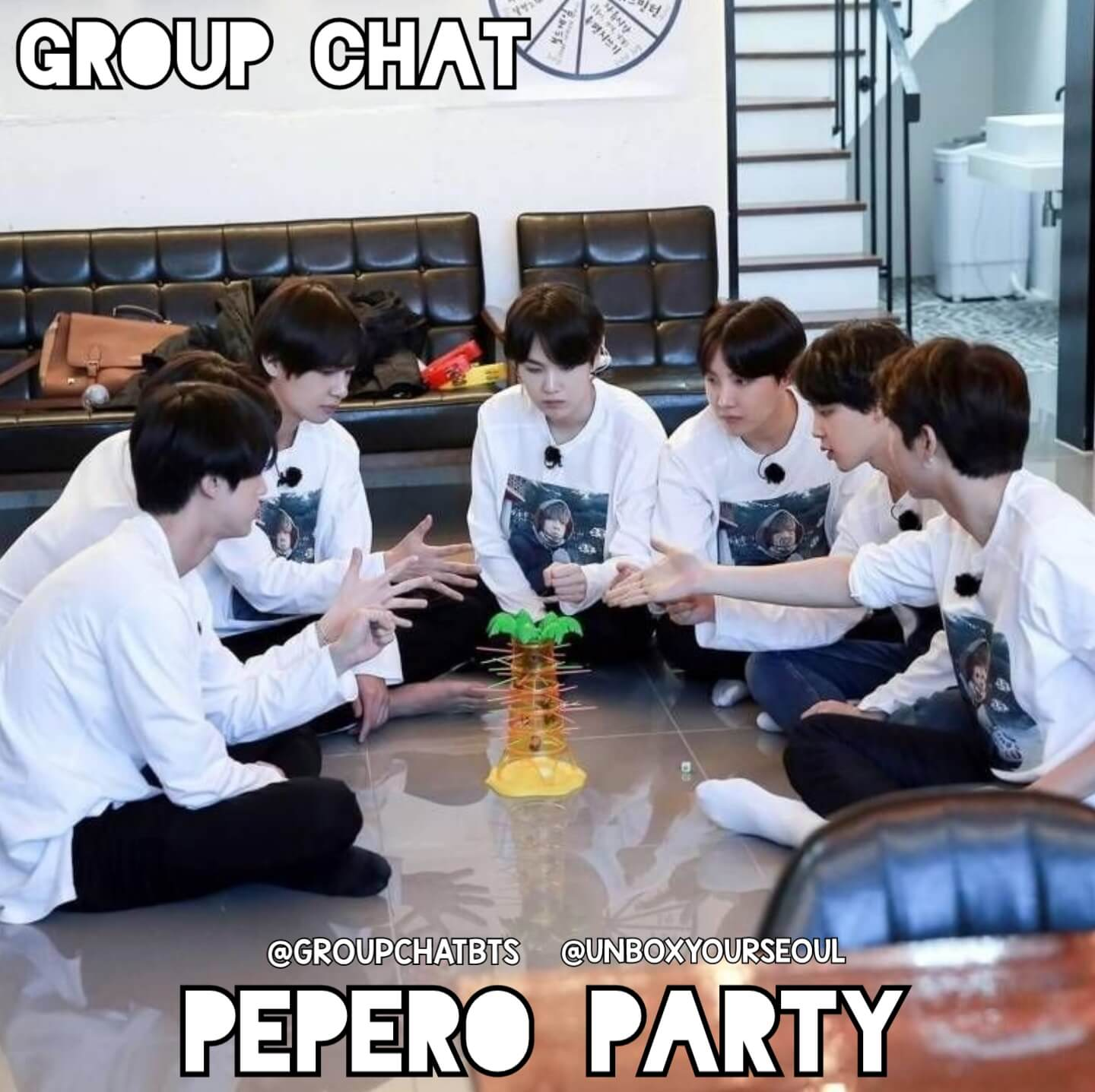 Group Chat BTS imagines Pepero Party with BTS memebers