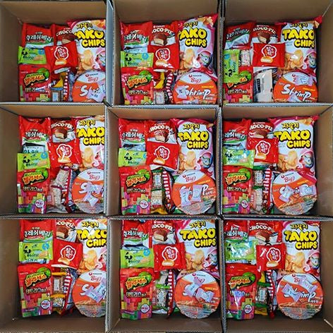 korean snack box packs