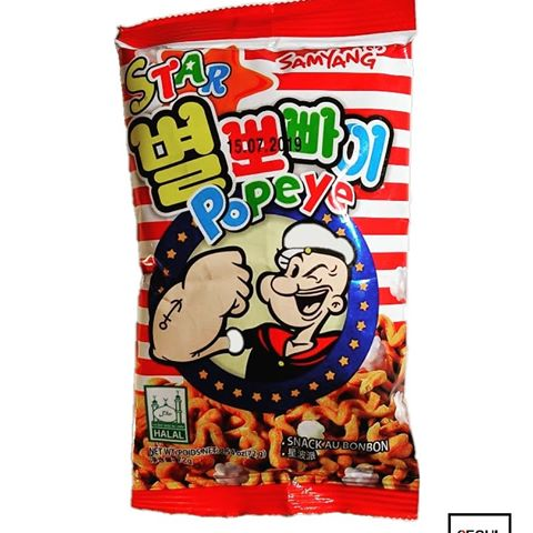 korean snack toasted noodles with sugar rock candies popeye