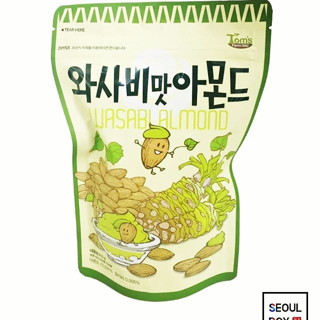 korean snack wasabi almonds