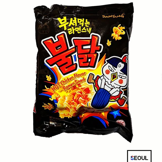 hot chicken noodles korean snacks crunchy