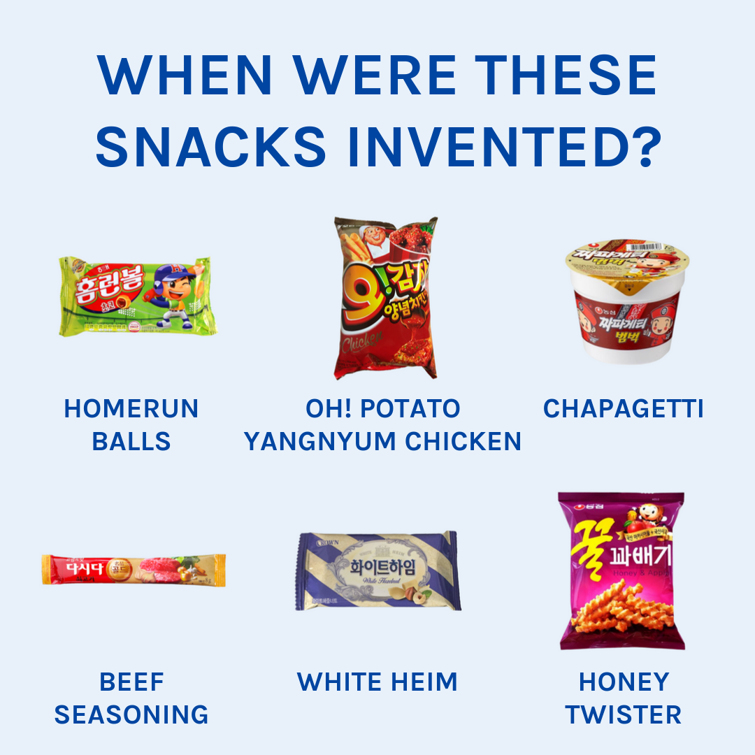 When Were These Snacks Invented? 👩‍🏫