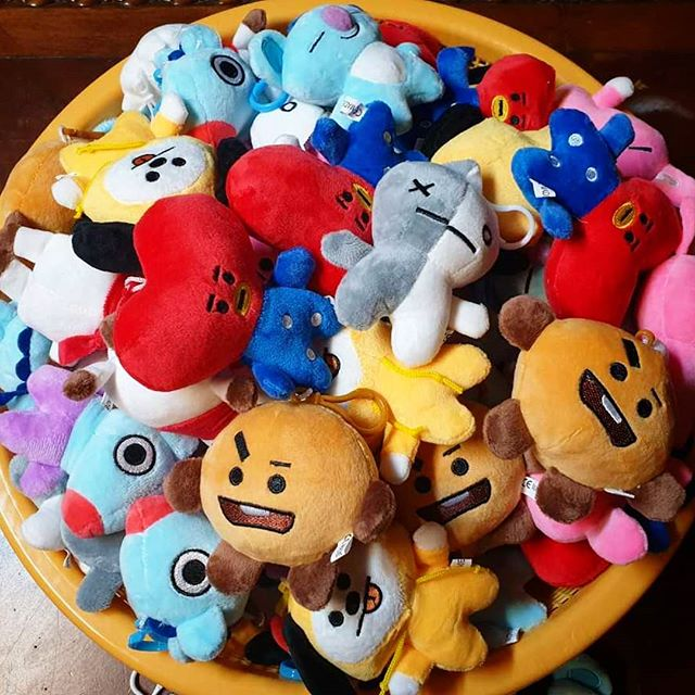 BT21 plush toys Tata shooky van chimmy mang