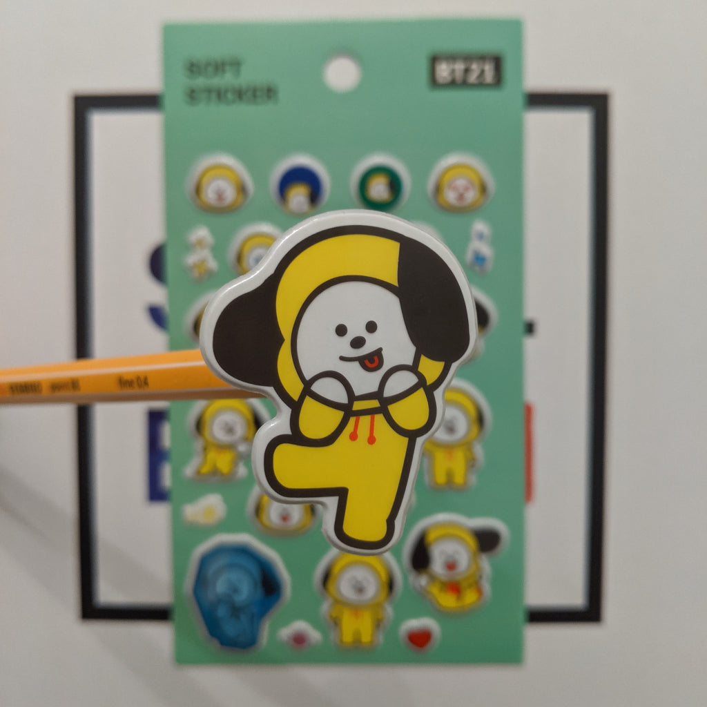 bt21 linefriends chimmy soft sticker kpop bts merch