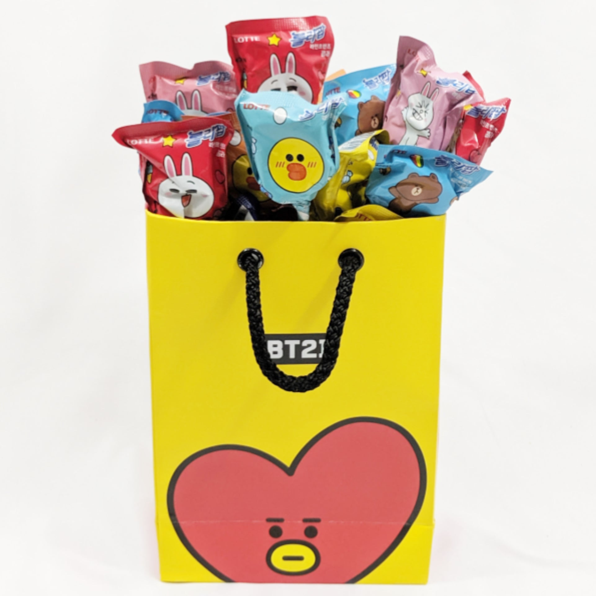official bt21 shopping bag tata version with lienfriends lollipop