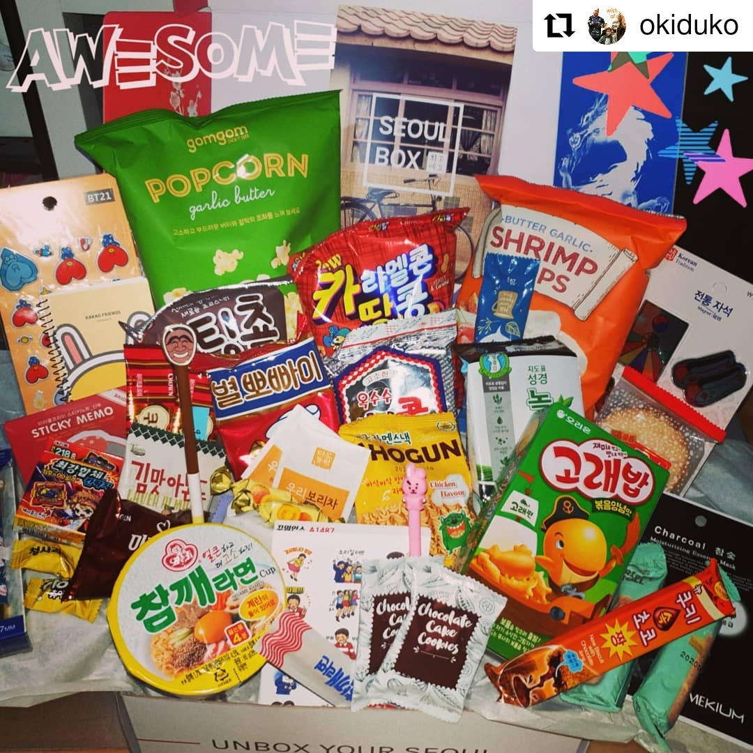 SeoulBox review a hamper box Korean candy