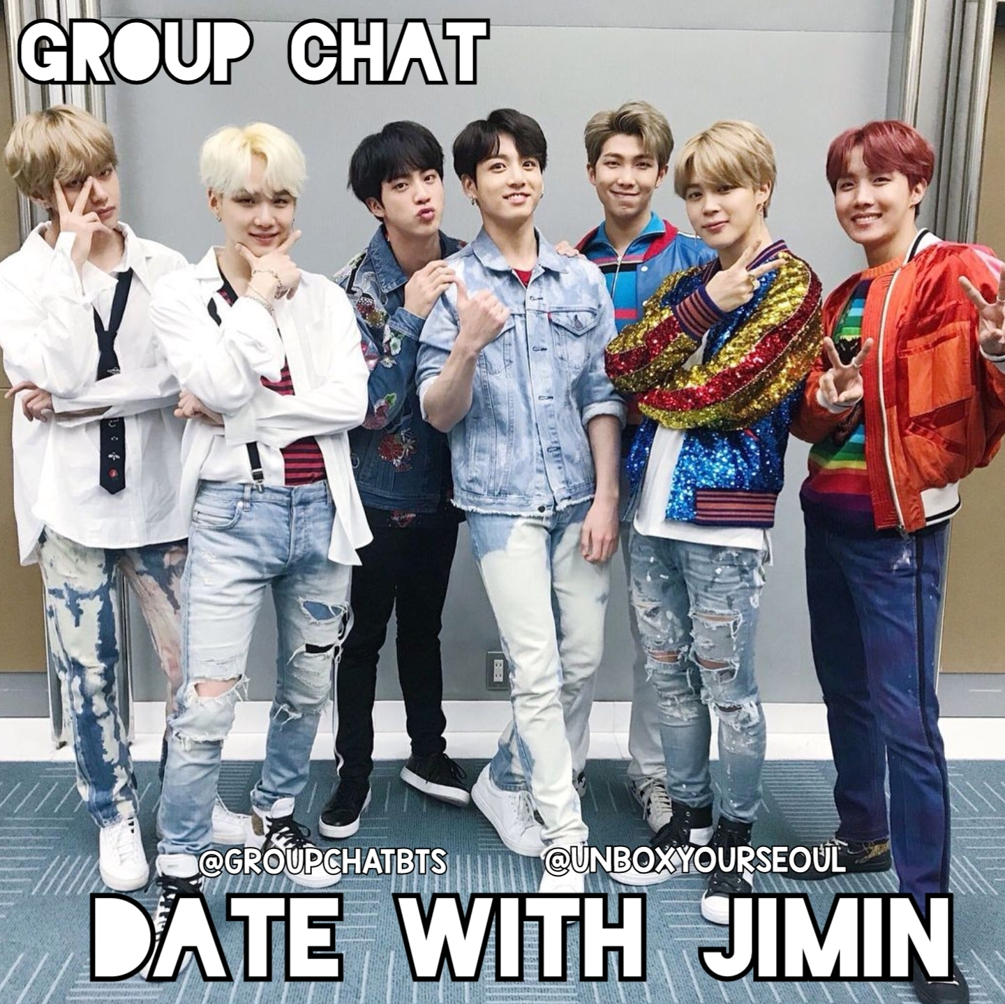 bts groupchat imagine fiction date with jimin