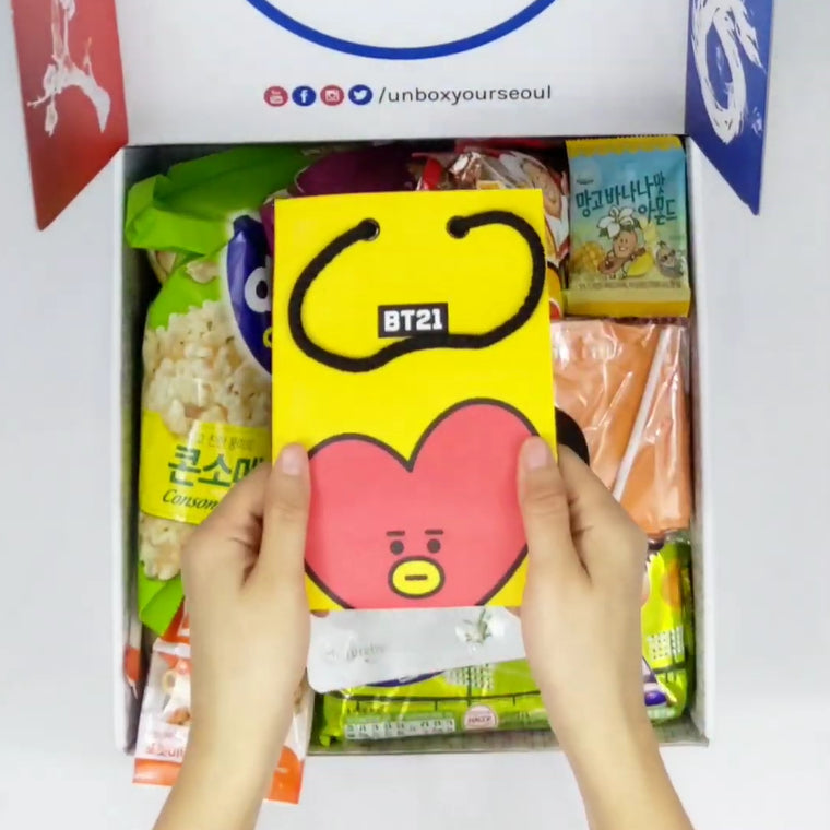 kpop box seoul box online korean snack box no subscription bts bt21 merch tata