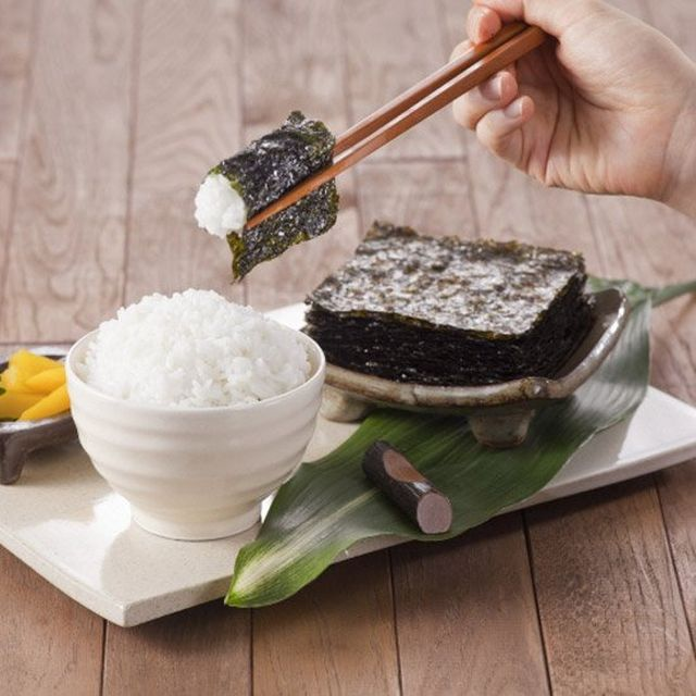 Korean seaweed with white rice Korean food