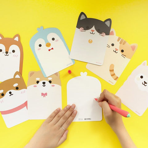 Korean stationery cat postcard for gift