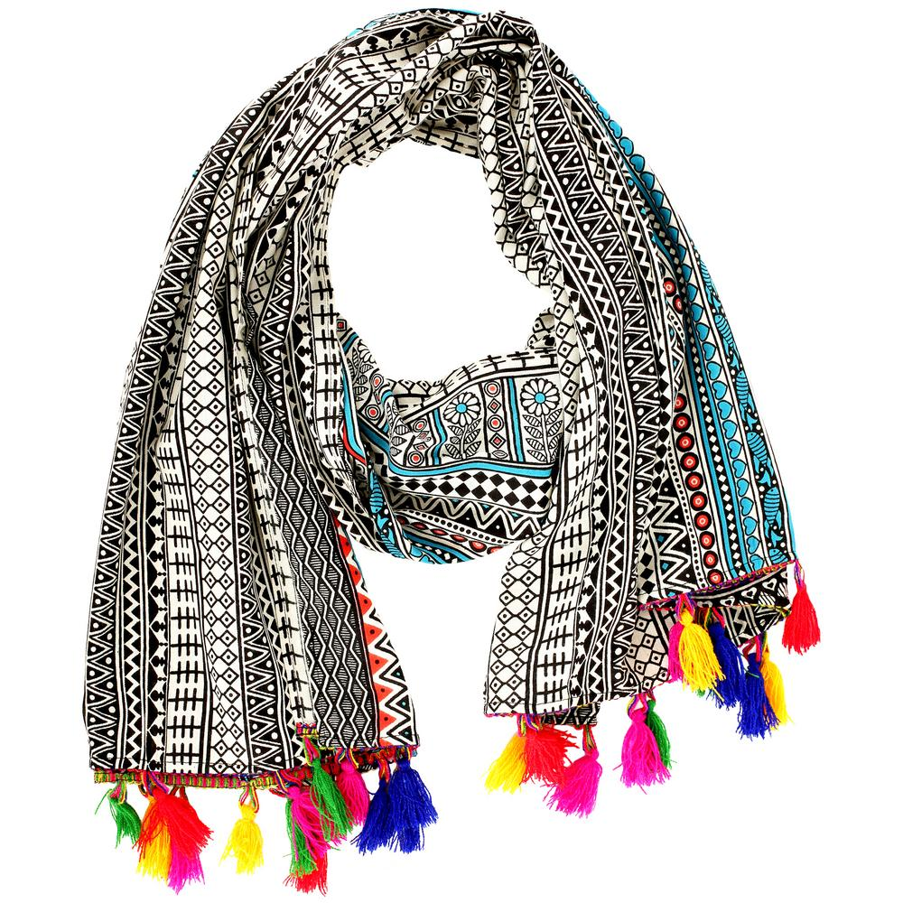 Tribal Pattern Wrap Scarf