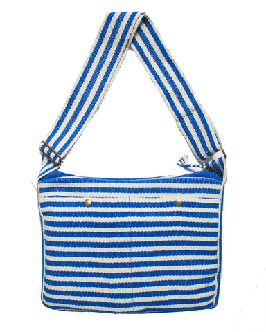 Stripped Crossbody Bag