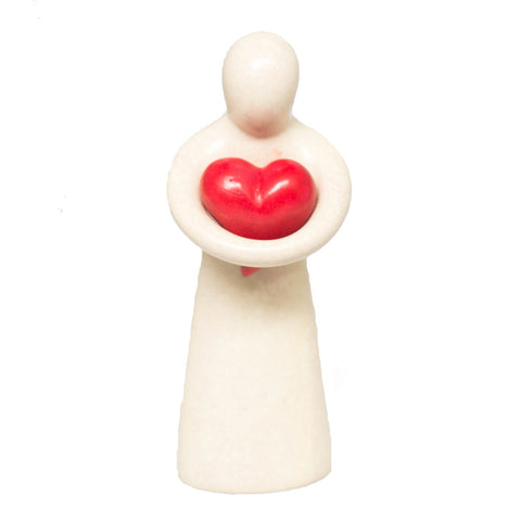 Heart-Holding Soapstone Sculpture
