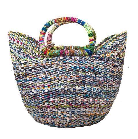 Large Recycled Bolga Basket