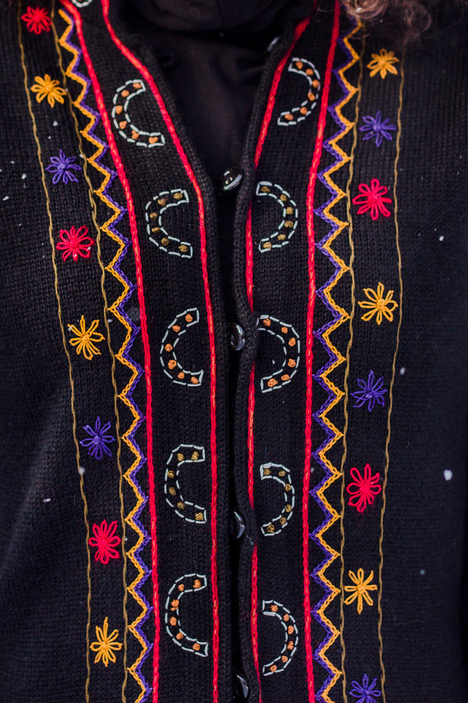 Long Embroidered Alpaca Sweater