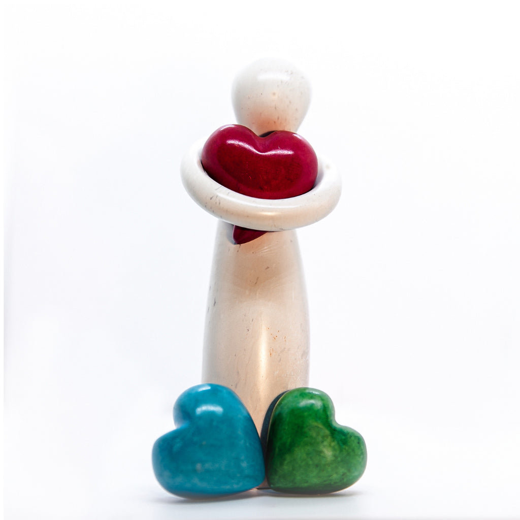 Love for Humanity Soapstone Carving
