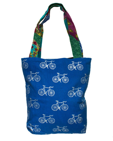 Metallic Bicycle Traveller Tote