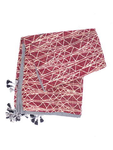 Namaste Triangle Block Printed Scarf