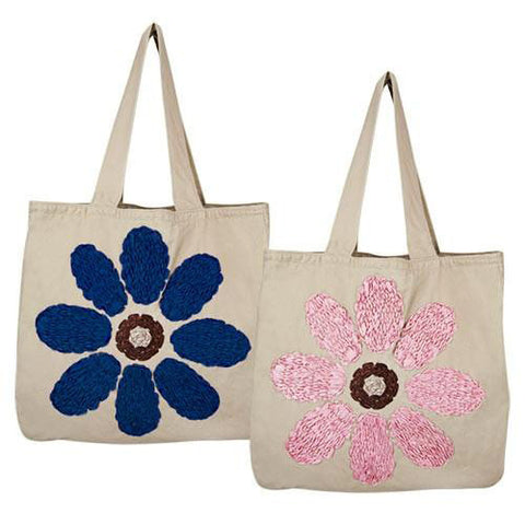 Ribbon Flower Tote