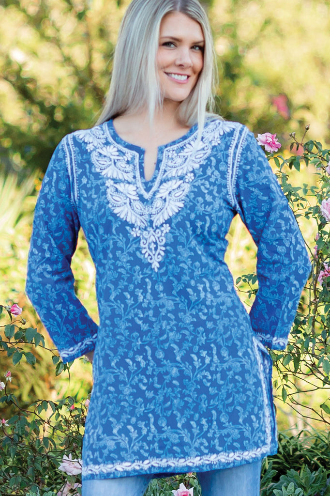 Cotton Hand-Embroidered Tunic