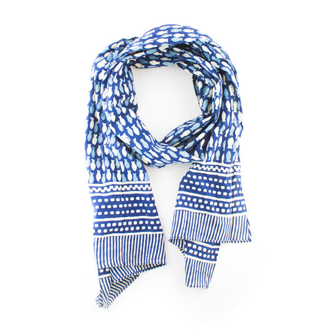 Block Printed Cotton Scarf