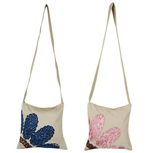 Ribbon Flower Shoulder Bag