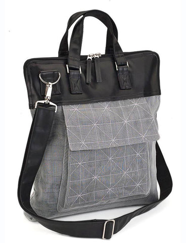 Silver Net Filing Purse