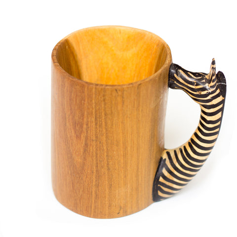 Mahogany Wood Stationery Cup