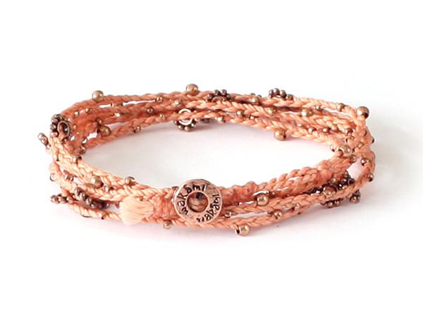 fair trade jewelry bracelets  long necklaces peach copper