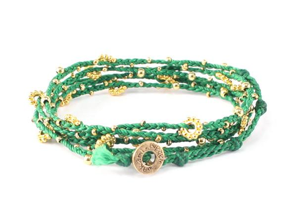 fair trade jewelry bracelets long necklaces green gold