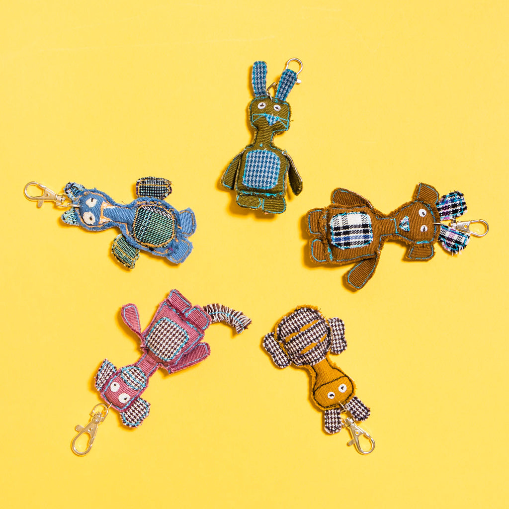 Upcycled - Recycled Animal Keychains