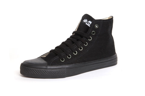 Organic and Fair Trade Etiko Sneakers - High Top - All Black
