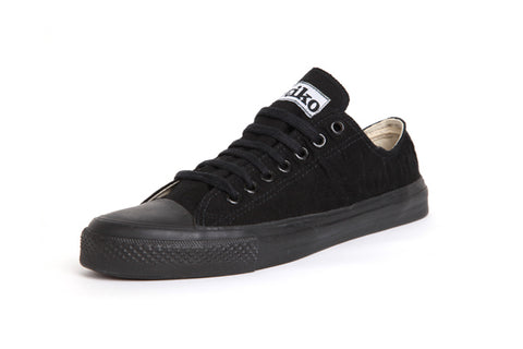 Organic and Fair Trade Etiko Sneakers - Low Cut - All Black