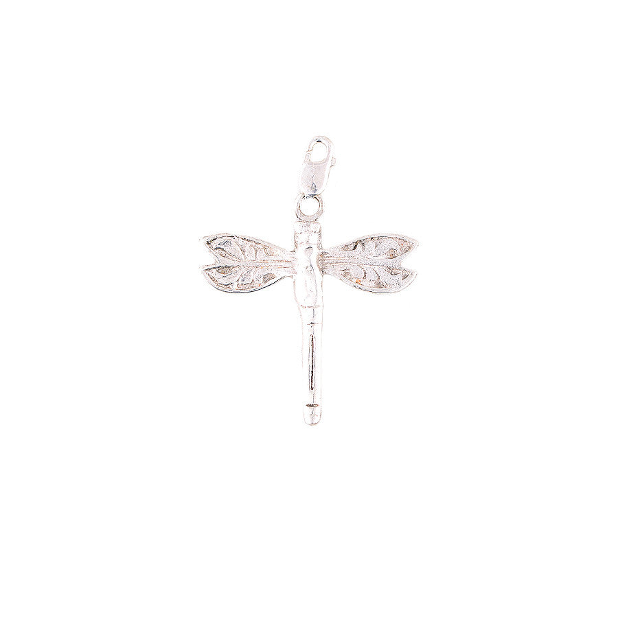 Dragonfly Silver Charm